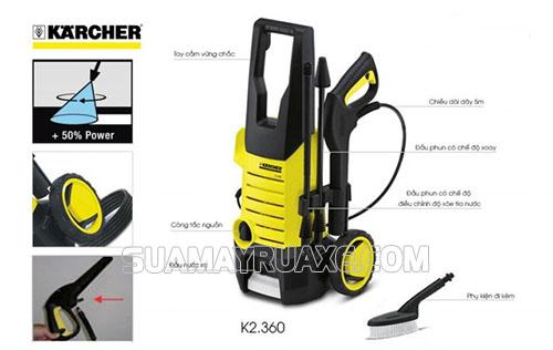 Karcher là thương hiệu máy rửa xe nổi tiếng đến từ Đức