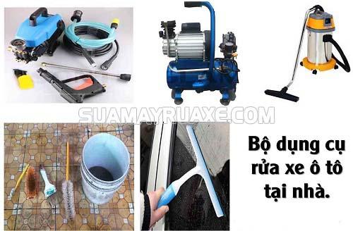 Các loại dụng cụ cần thiết cho việc rửa xe ô tô