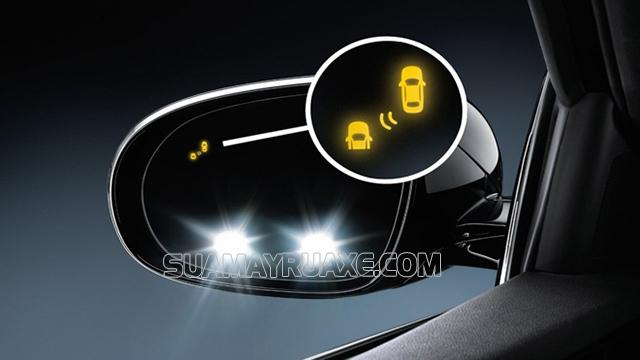 Đối với điểm mù sau xe