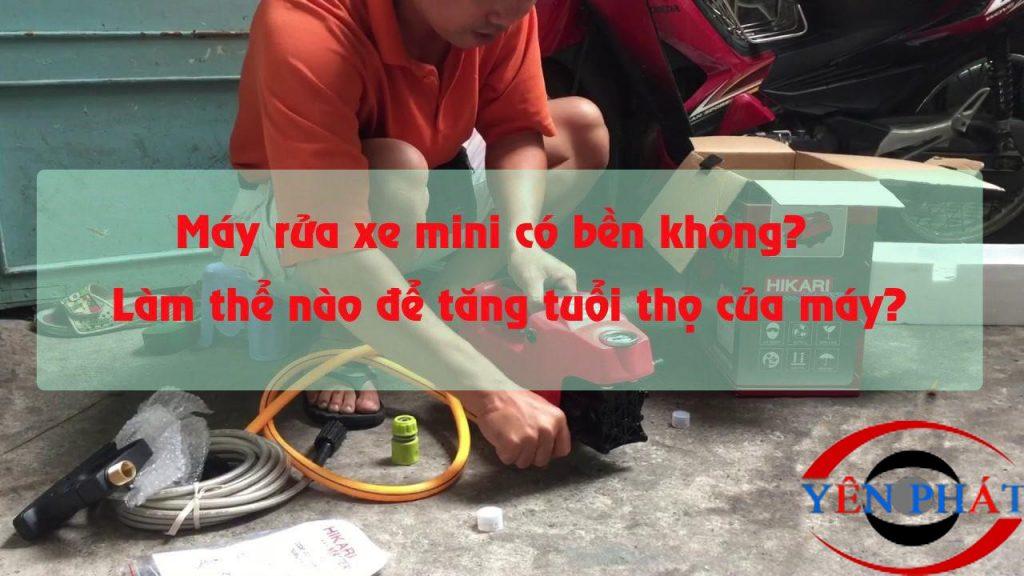 Cách bảo dưỡng máy rửa xe mini hiệu quả tại nhà không phải ai cũng biết