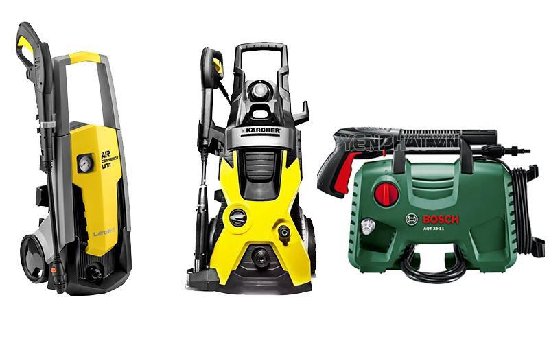 Một số sản phẩm máy rửa xe của Lavor, Karcher, Bosch nổi tiếng