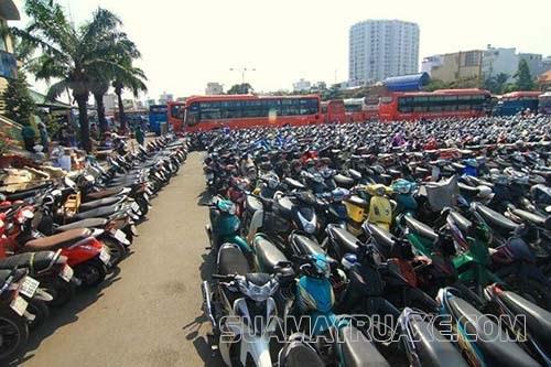 Thiết kế kích thước cho bãi đỗ xe máy đạt chuẩn