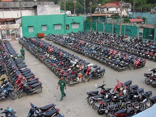 Kích thước bãi đỗ xe máy chuẩn