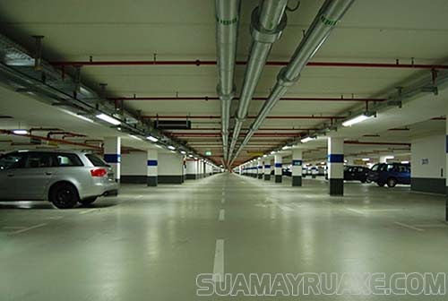 Kích thước cho tầng hầm để xe ô tô chuẩn
