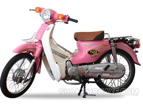 Xe máy 50cc Honda Little Cub màu hồng nhỏ xinh
