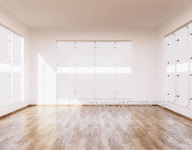 Không gian sang trọng hơn với sàn gỗ tự nhiên