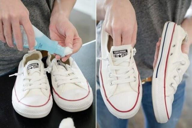 Đánh giày vải bằng cồn