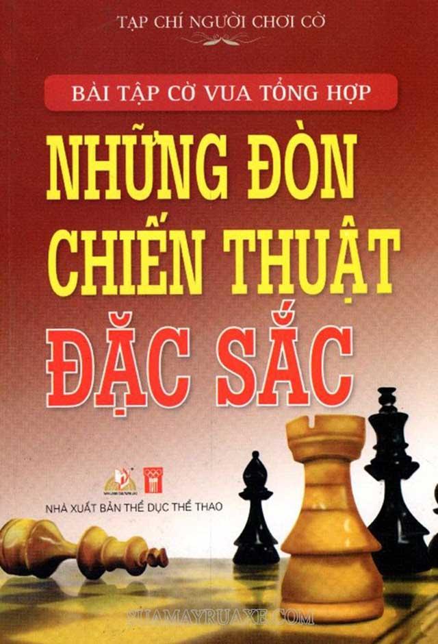 Sách có những bài tập cờ vua nâng cao giúp trình độ đáng kể