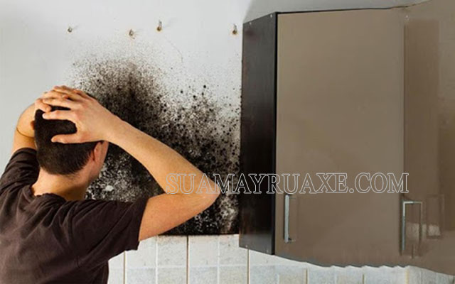 Có nhiều cách làm sạch tường bị mốc