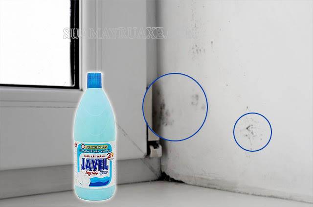Làm sạch tường bị mốc bằng Javel