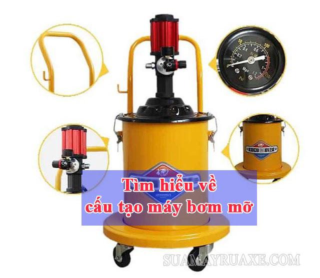 Tìm hiểu chi tiết về cấu tạo máy bơm mỡ có bao nhiêu bộ phận?