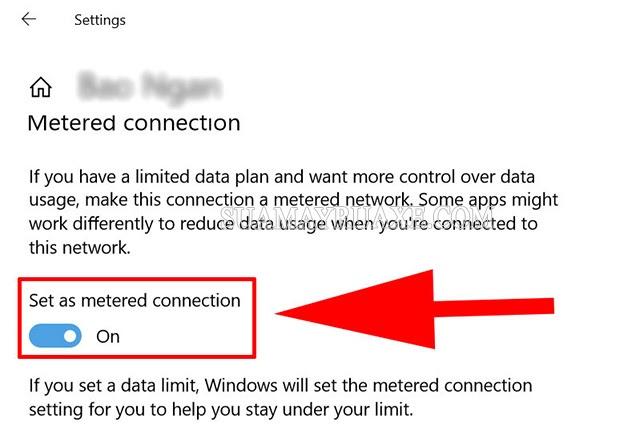 Tắt cập nhật win 10 bằng cách tùy chỉnh kết nối wifi